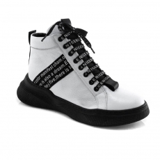 White colour women ankle boots