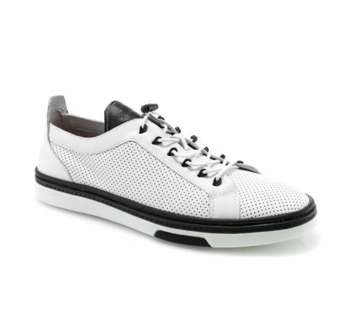 Baltos spalvos vyriški atviri batai