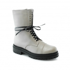 ivory colour women ankle boots