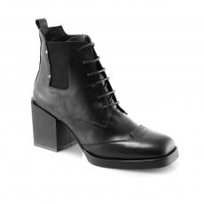 Black colour women ankle boots