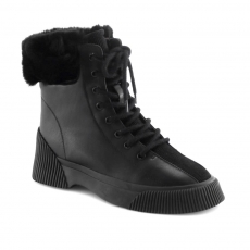 Black colour women winter shoes