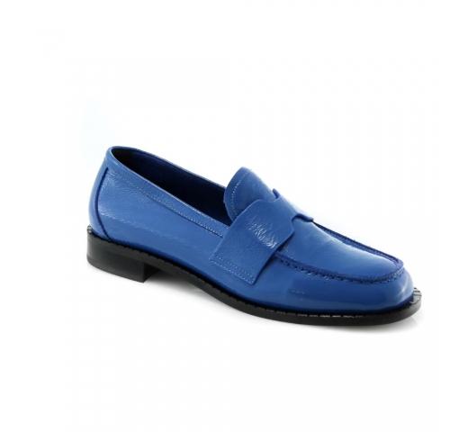Mėlynos spalvos moteriški bateliai