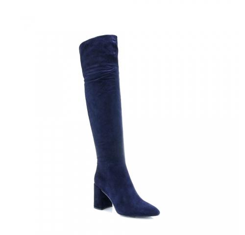 Mėlynos spalvos moteriški ilgaauliai