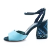 Mėlynos spalvos moteriškos basutės
