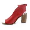 Raudonos spalvos moteriški atviri bateliai