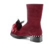 Raudonos spalvos moteriški laisvalaikio batai
