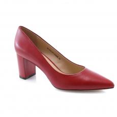 Raudonos spalvos moteriški proginiai bateliai