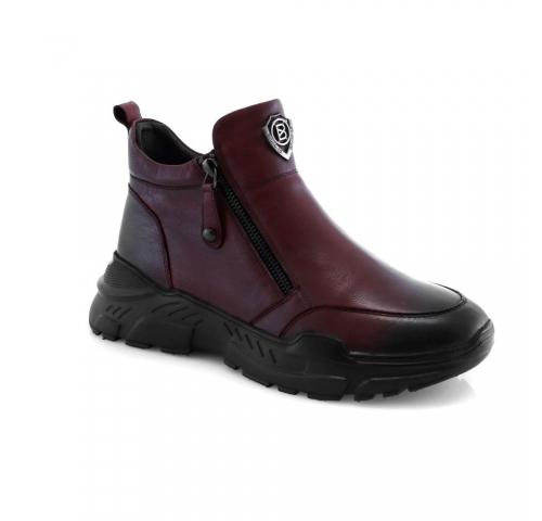 Raudonos spalvos moteriški žieminiai batai