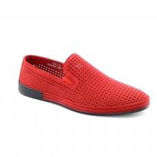 Red colour men open shoes