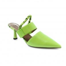 Žalios spalvos moteriški atviri bateliai