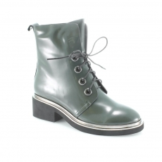 Green colour women ankle boots